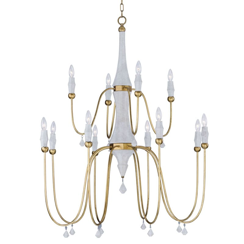 Hudson Valley Lighting Bourne: Maxim 22438 Claymore 40 Wide 12 Light Chandelier