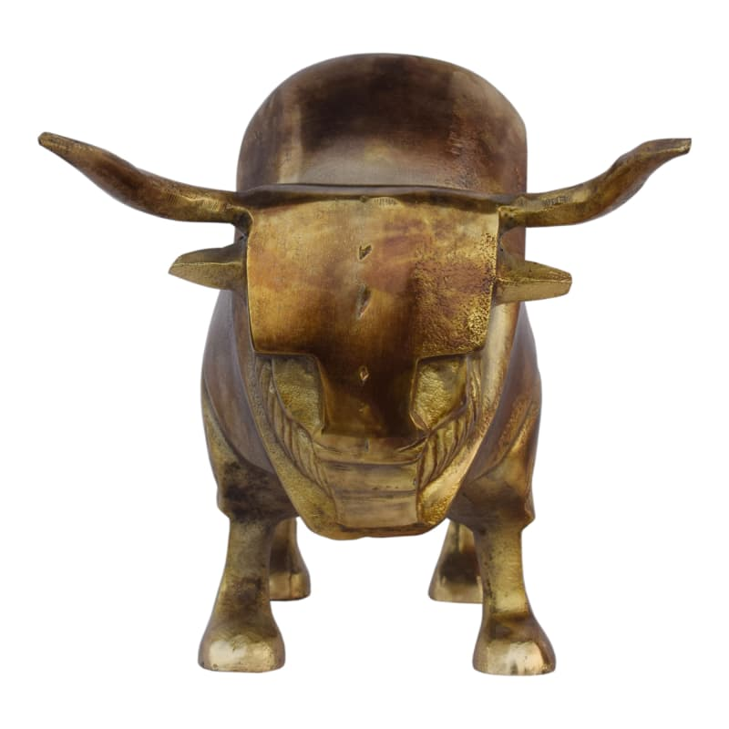 Moes Home Collection FI-1065 Aluminum Bull Sculpture