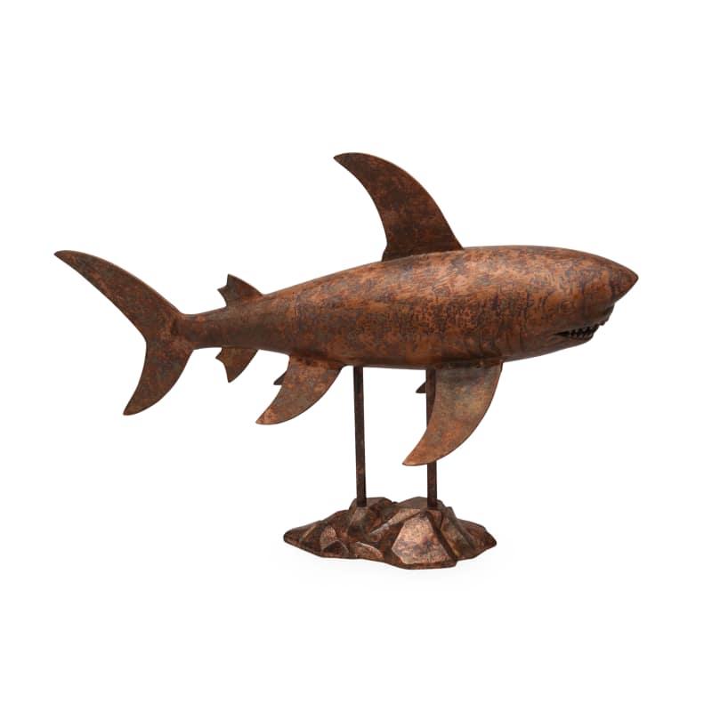 Moes Home Collection NM-1022-LQ Aluminum Shark Sculpture