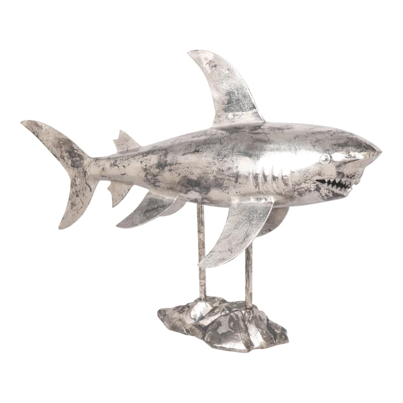 Moes Home Collection NM-1022 Aluminum Shark Sculpture