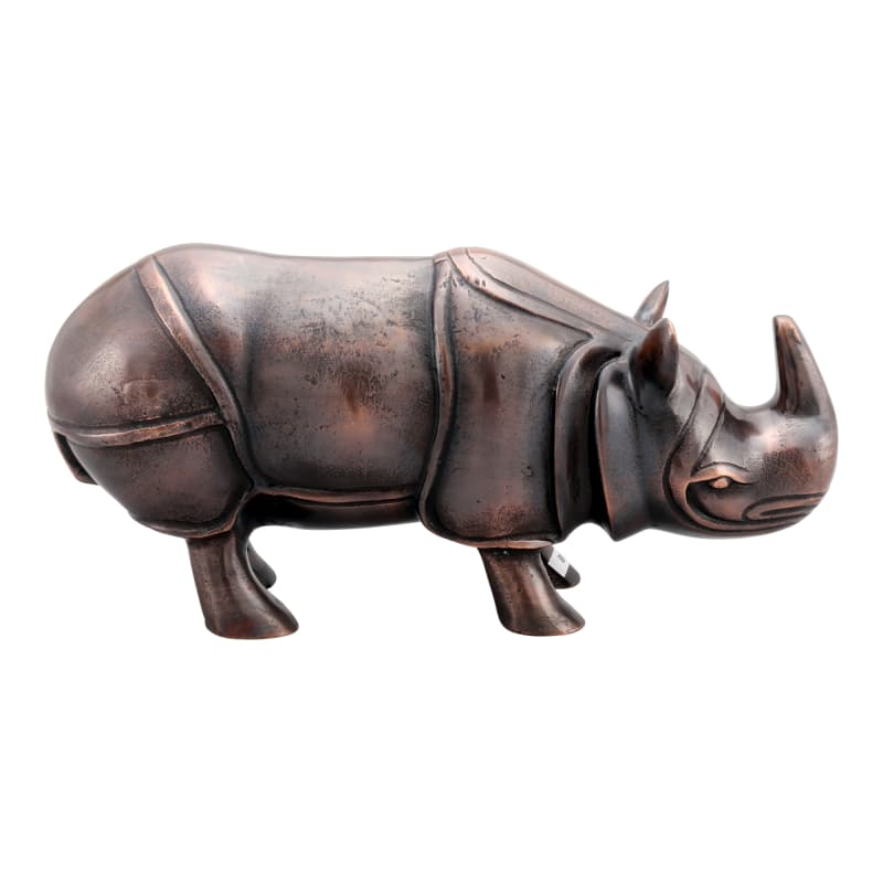 Moes Home Collection NM-1037 Aluminum Rhino Sculpture