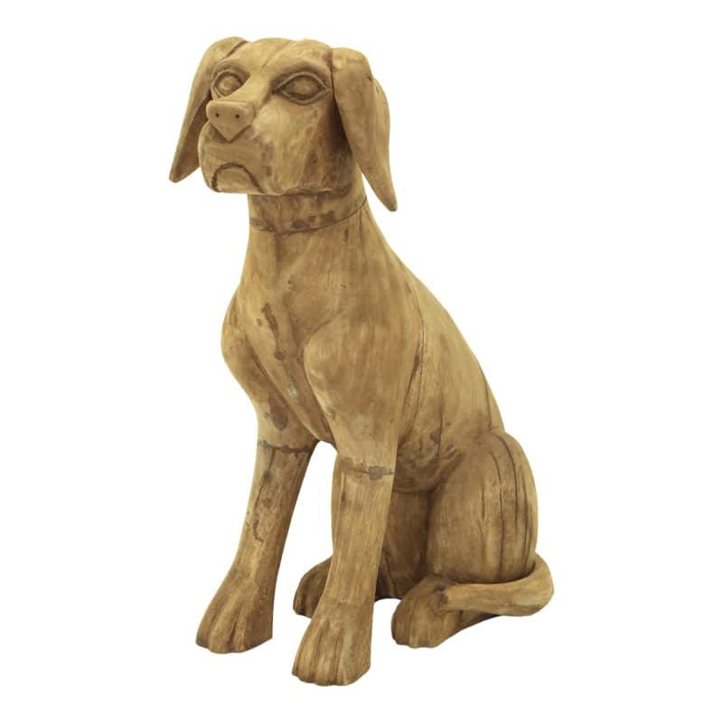 Moes Home Collection YZ-1007 Carver Wood Dog