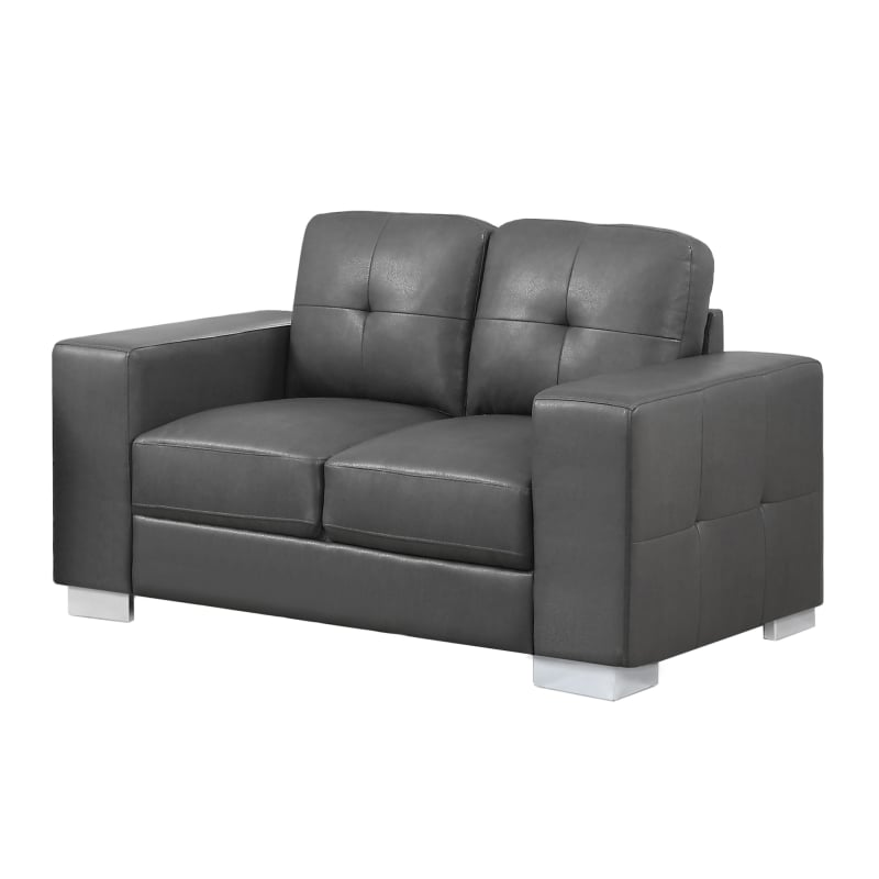 Monarch Specialties I 8222 36 Inch Wide Leather Sofa