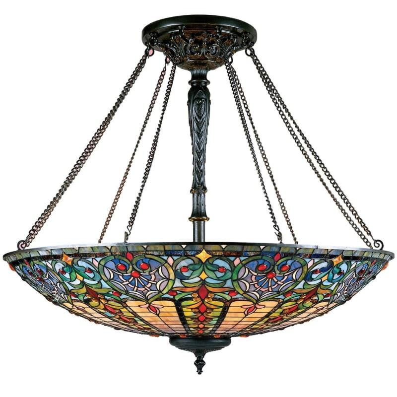 Quoizel TF1784 Tiffany 8 Light Bowl Pendant