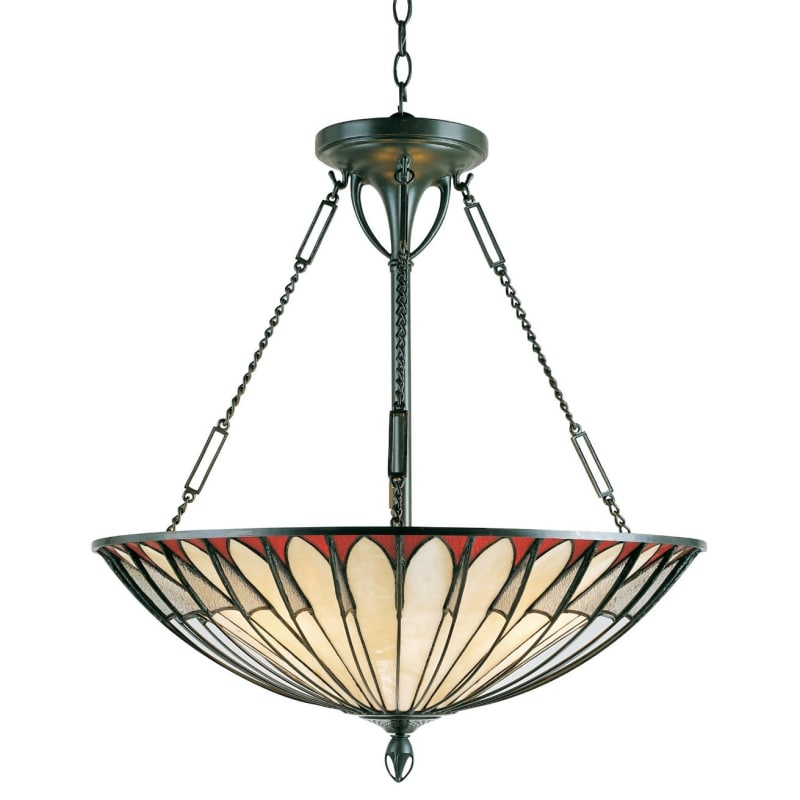 Quoizel TF1816 Tiffany 4 Light Bowl Pendant