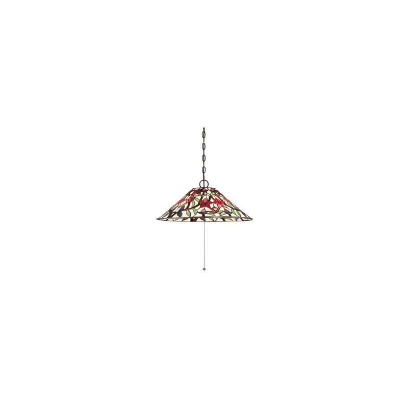 Quoizel TFRB1821 Red Blossom 3 Light 21-1/4