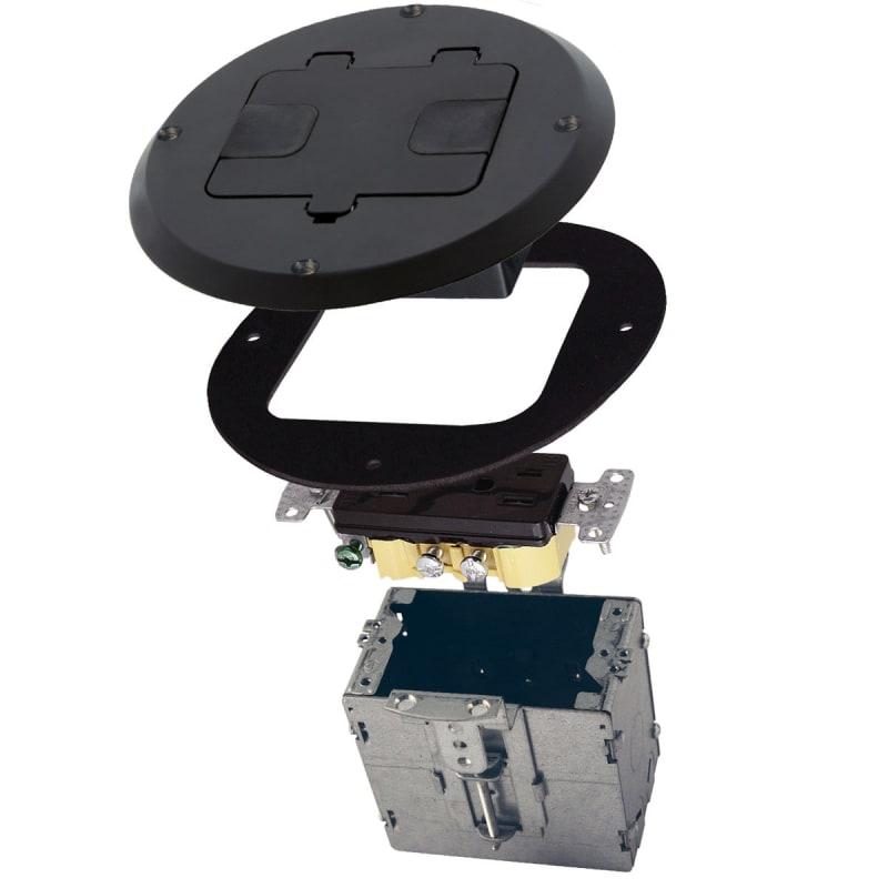 Raco 6239 5 58 Recessed Floor Box