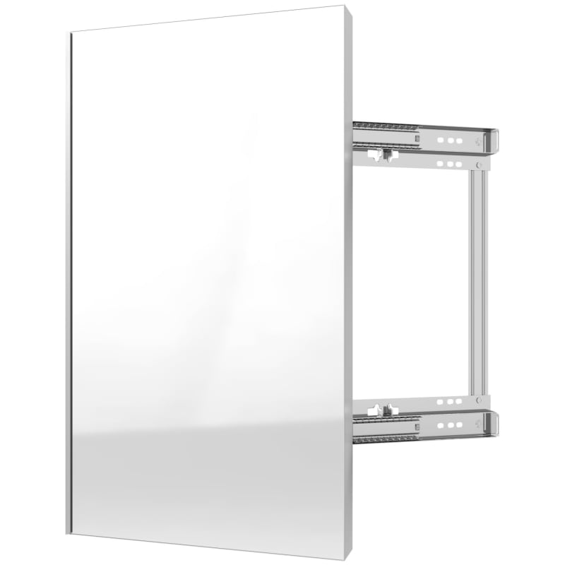 Rev-A-Shelf CMSL-1424-1 Sidelines 24 Inch Pull Out Mirror with Soft Close Silver Storage and Organization Closet Organizers Pull Out Mirrors
