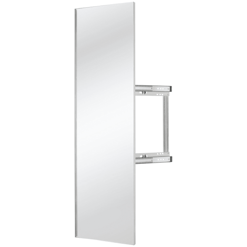 Rev-A-Shelf CMSL-1448-1 Sidelines 48 Inch Pull Out Mirror with Soft Close Silver Storage and Organization Closet Organizers Pull Out Mirrors