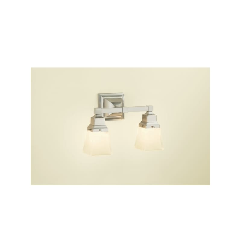 Robern MLLWSDD M Series Double Light Bathroom Sconce with Frosted Glass Shades