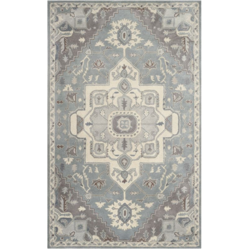 Safaviehsafavieh Hg823 5 Heritage 5 X 8 Wool Hand Tufted Traditional Area Rug Blue Ivory Home Decor Rugs Area Rugs Dailymail