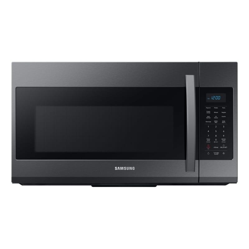 Samsung ME19R7041 30 Inch Wide 1.9 Cu. Ft. 1000 Watt Over the Range Microwave with Sensor Cook Fingerprint Resistant Black Stainless Steel Microwave