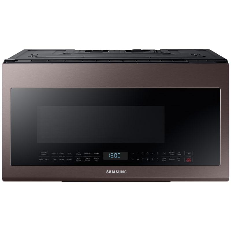 Samsung ME21R706 30 Inch Wide 2.1 Cu. Ft. 1000 Watt Over the Range Microwave Fingerprint Resistant Tuscan Stainless Steel Microwave Ovens Microwave