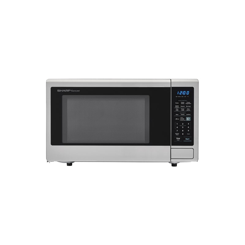 Sharp Carousel 1.8 Cu Ft Countertop Microwave Stainless Steel Sensor Cooking