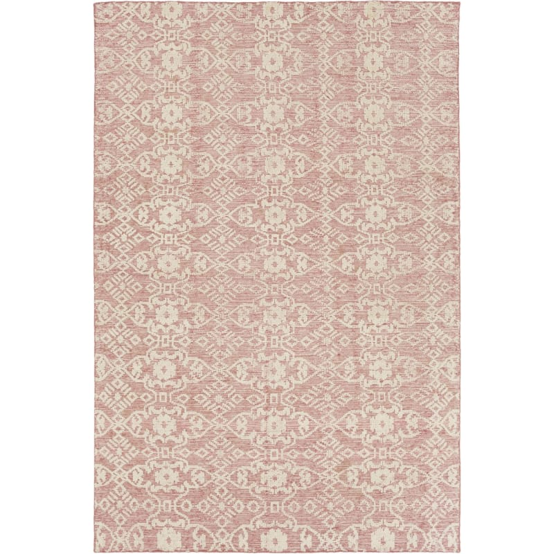 Rectangle Wool Hand Knotted Damask