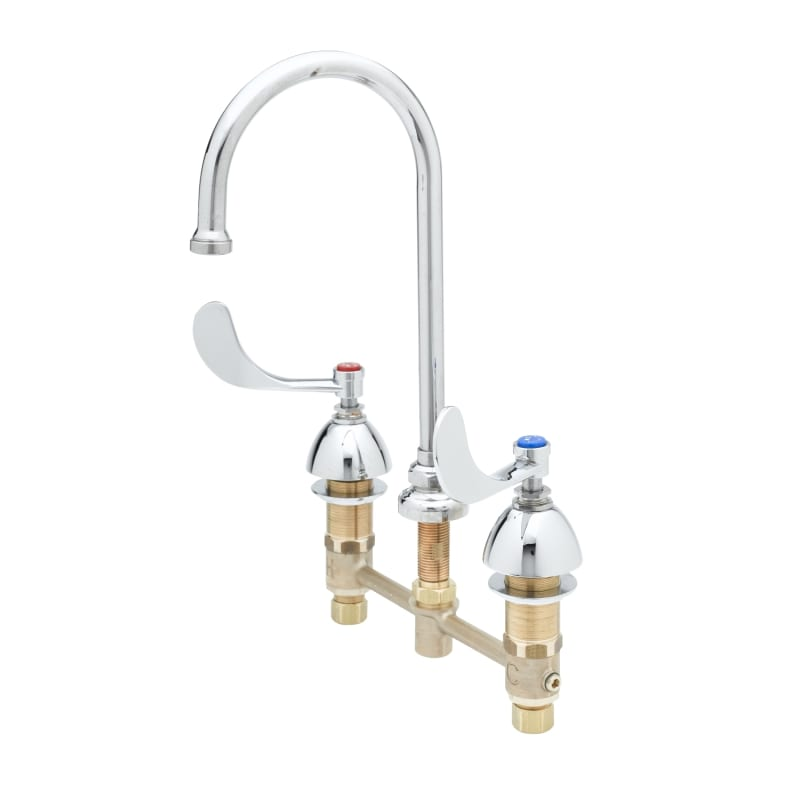 T/&S Brass B-2360-01 Flexible Mouth Guard Push Button Metering Handle Flow Control Bubbler