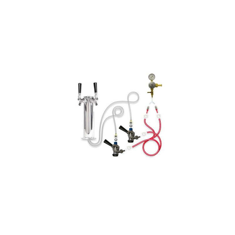 Single Tap Deluxe Tower Kegerator Conversion Kit
