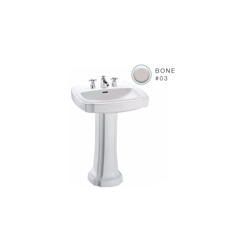 Toto Lpt9728 Guinevere 24 38 Pedestal Bathroom Sink With 3