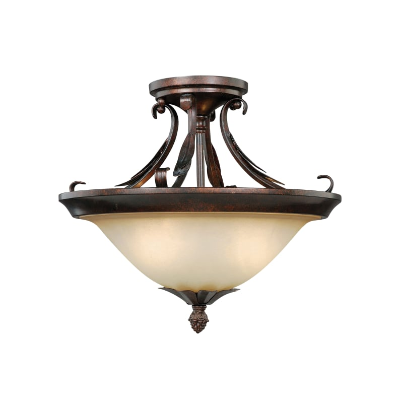 Elk Lighting Belmont: Vaxcel Lighting C0047 Coricelli 2 Light Semi Flush Indoor