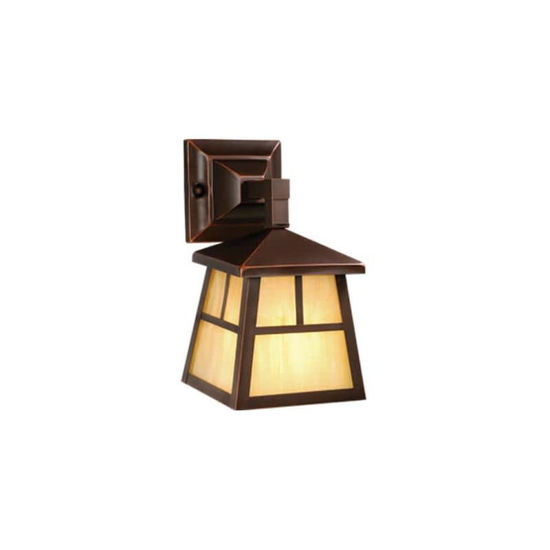Vaxcel Lighting OW14663 Mission 1 Light Outdoor Wall Sconce - 7 Inches Wide Burnished Bronze Outdoor Lighting Wall Sconces