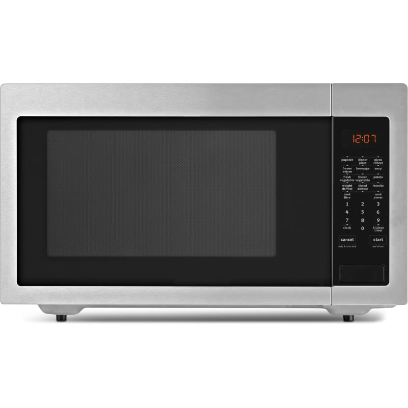 Whirlpool UMC5225G 24 Inch Wide 2.2 Cu. Ft. 1200W Countertop Microwave Oven Fingerprint Resistant Stainless Steel Microwave Ovens Microwave Countertop