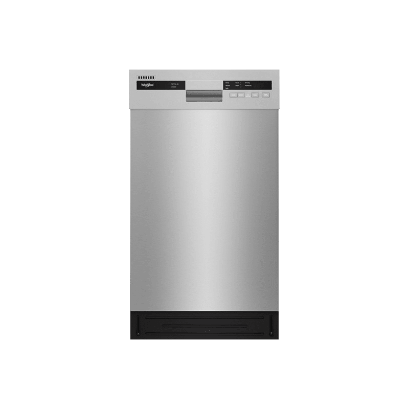 Whirlpool WDF518SAHM 18 Inch Wide 8 Place Setting Energy Star Rated Built-In Fully Integrated Dishwasher, Stainless Steel