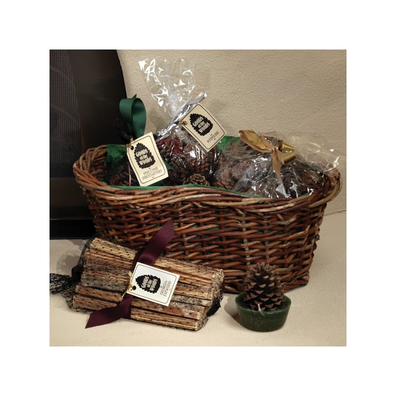 Woodfield 47145 Sampler Woven Willow Gift Basket