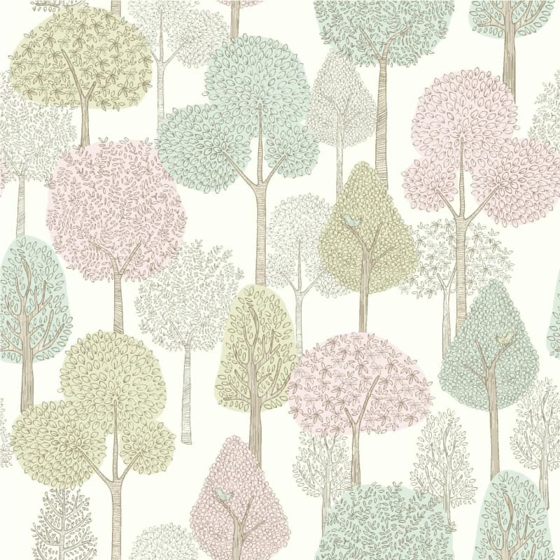 York Wallcoverings Dw2401 56 Square Foot Treetops Pre Pasted