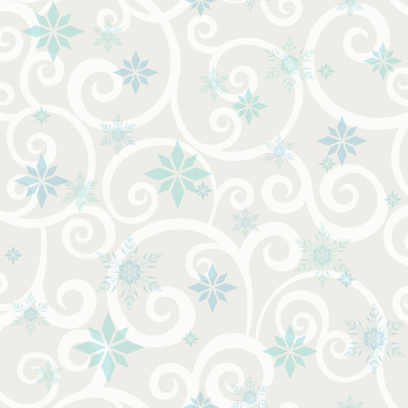 York Wallcoverings Dy0156 56 Square Foot Frozen Snowflake