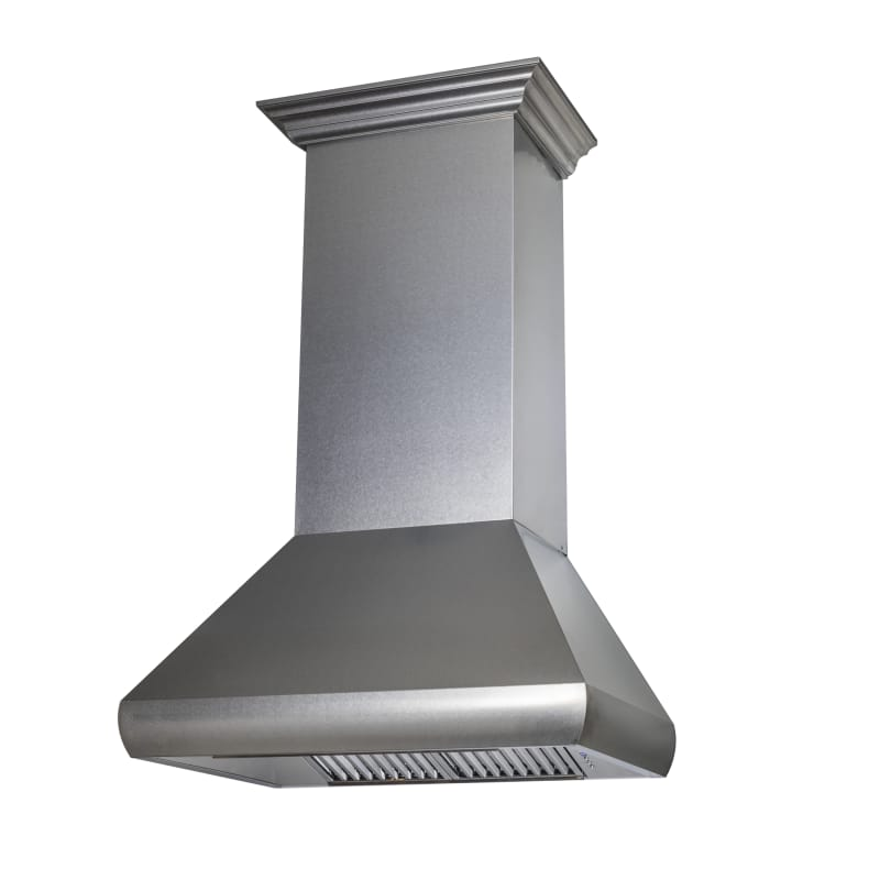Zline 8687 30 Snow Finished Stainless 1200 Cfm 30 Inch Wide Wall Mounted Range H