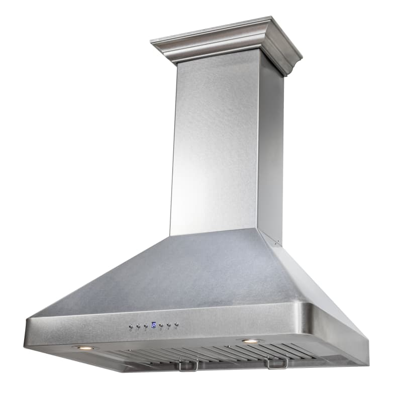 Zline 8kf2 30 Snow Finished Stainless 900 Cfm 30 Inch Wide Wall Mounted Range Ho