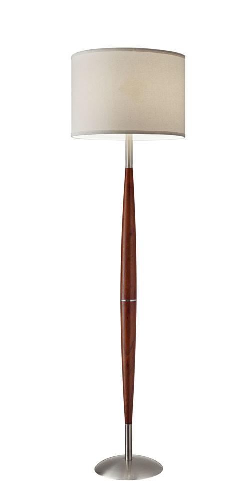 Adesso 3341-13 Hudson Floor Lamp One size Dark Maple