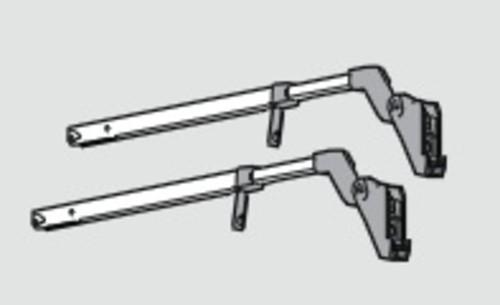 Blum 20F8000.NA Aventos HF Cover Set with Cover Caps Plastic Nickel Finish