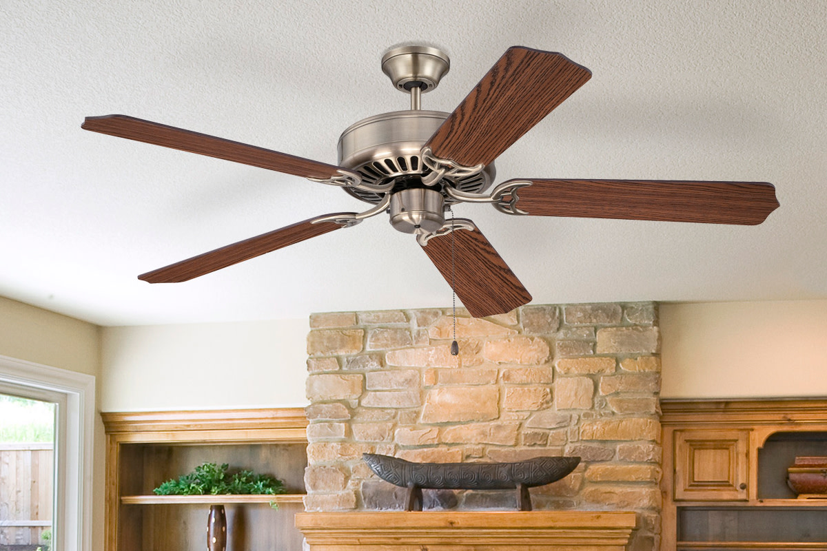 """Craftmade C52W Pro Builder 42/"""" or 52/"""" 5-Blade Ceiling Fan Blades Sold Separate"""