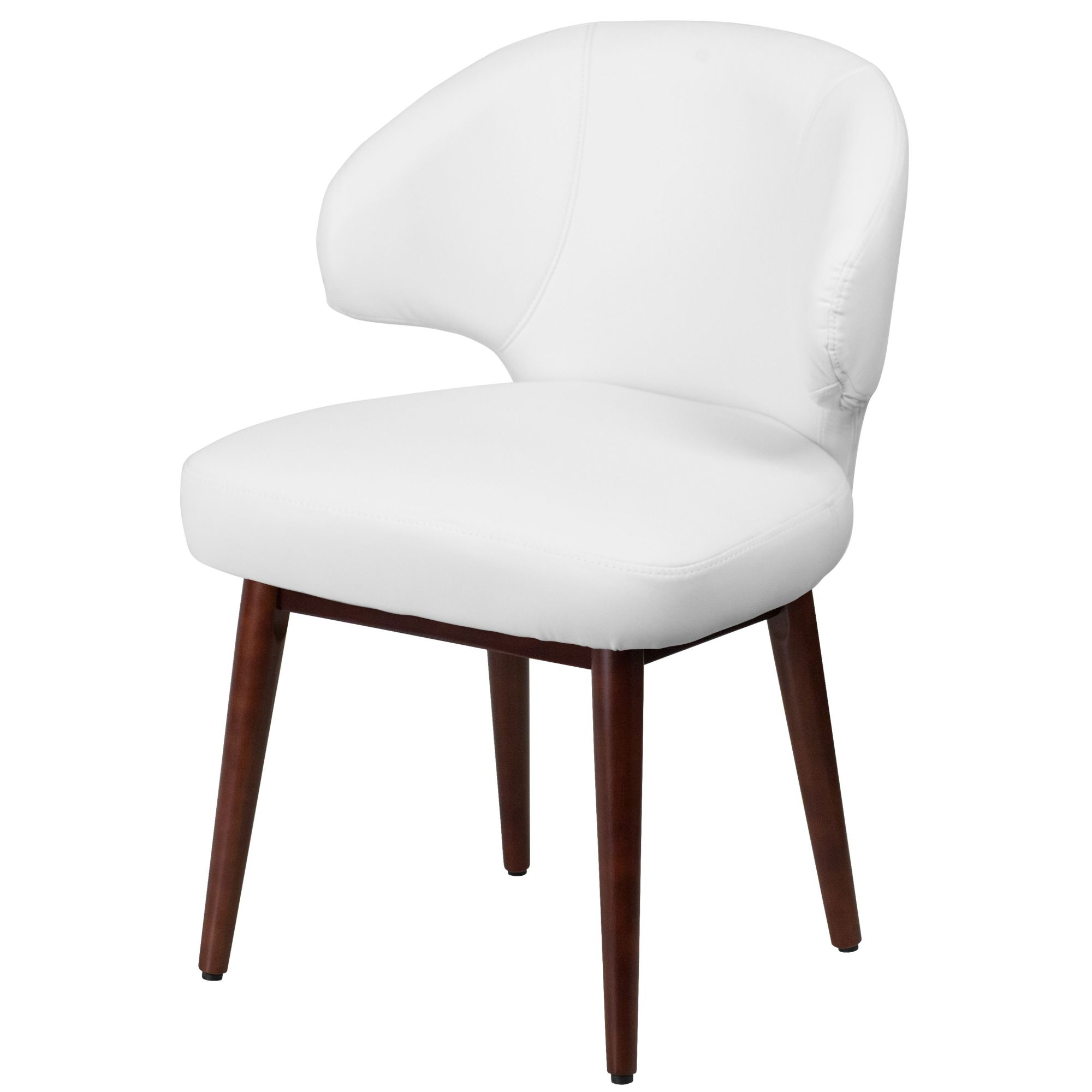 Incredible Details About Delacora Ff Bt 1 23 5W Leather Accent Chair White Ibusinesslaw Wood Chair Design Ideas Ibusinesslaworg