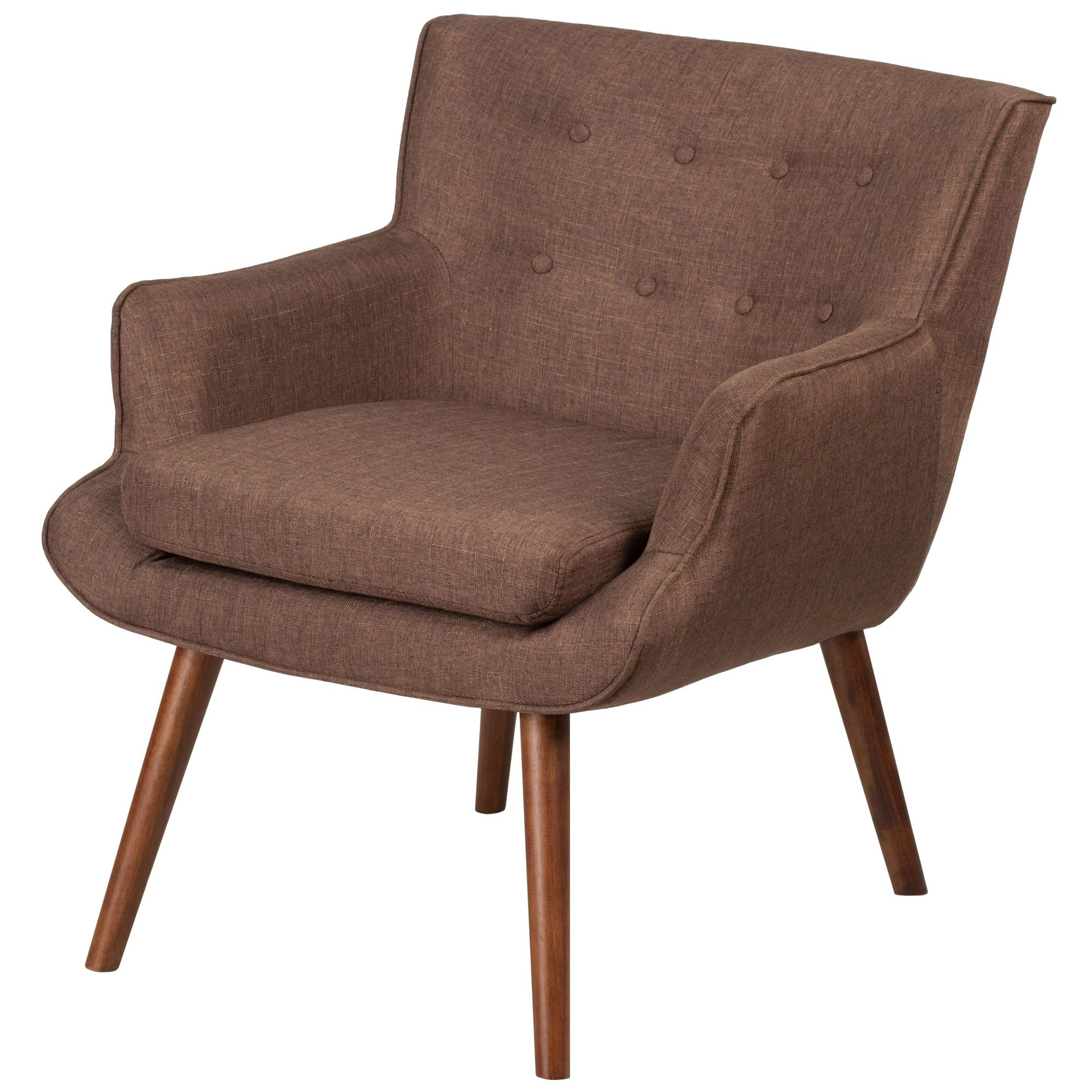Groovy Details About Delacora Ff Qy B84 28 25 Wide Fabric Accent Chair Brown Gmtry Best Dining Table And Chair Ideas Images Gmtryco