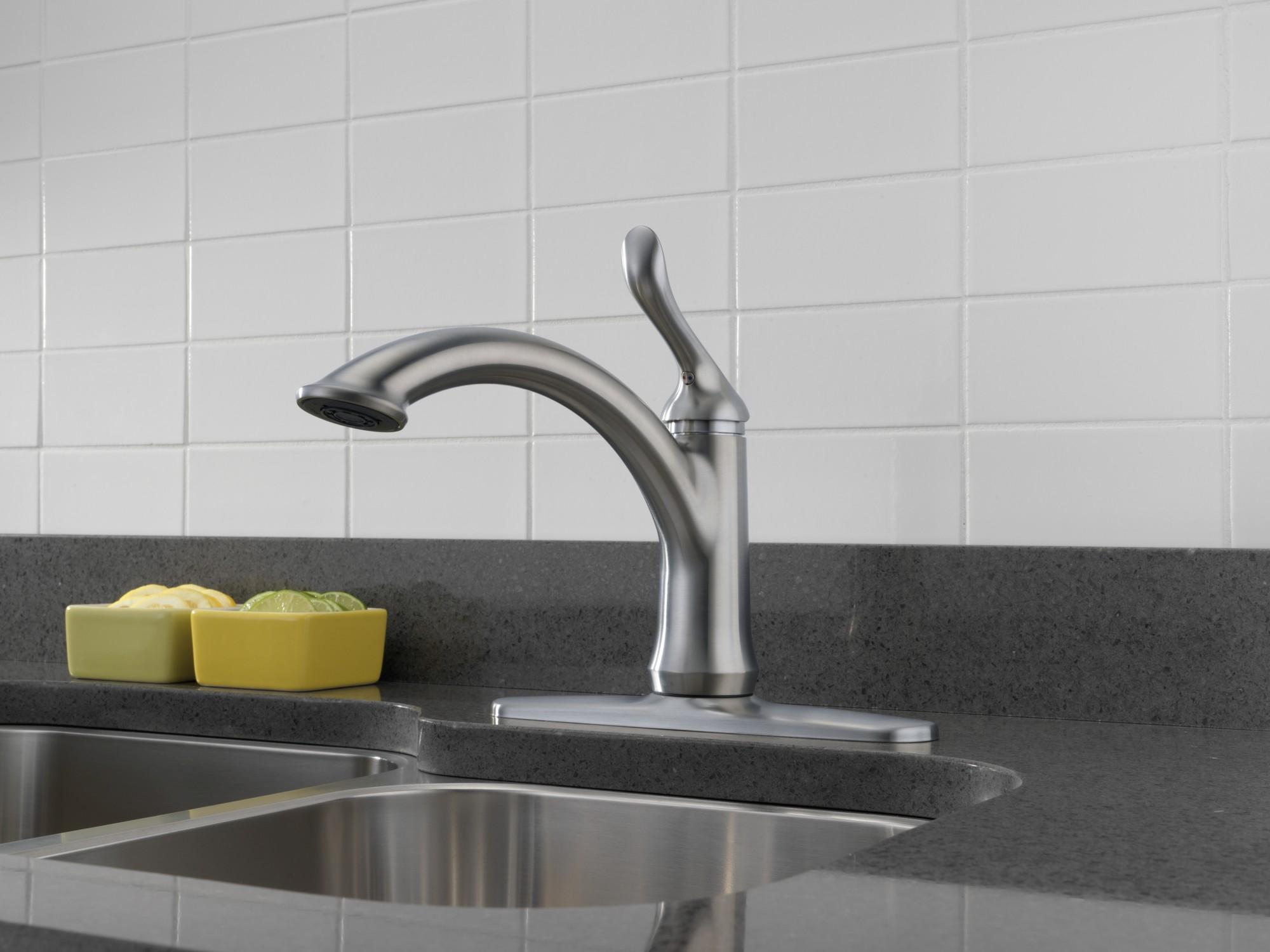 delta 1353-dst linden kitchen faucet   ebay