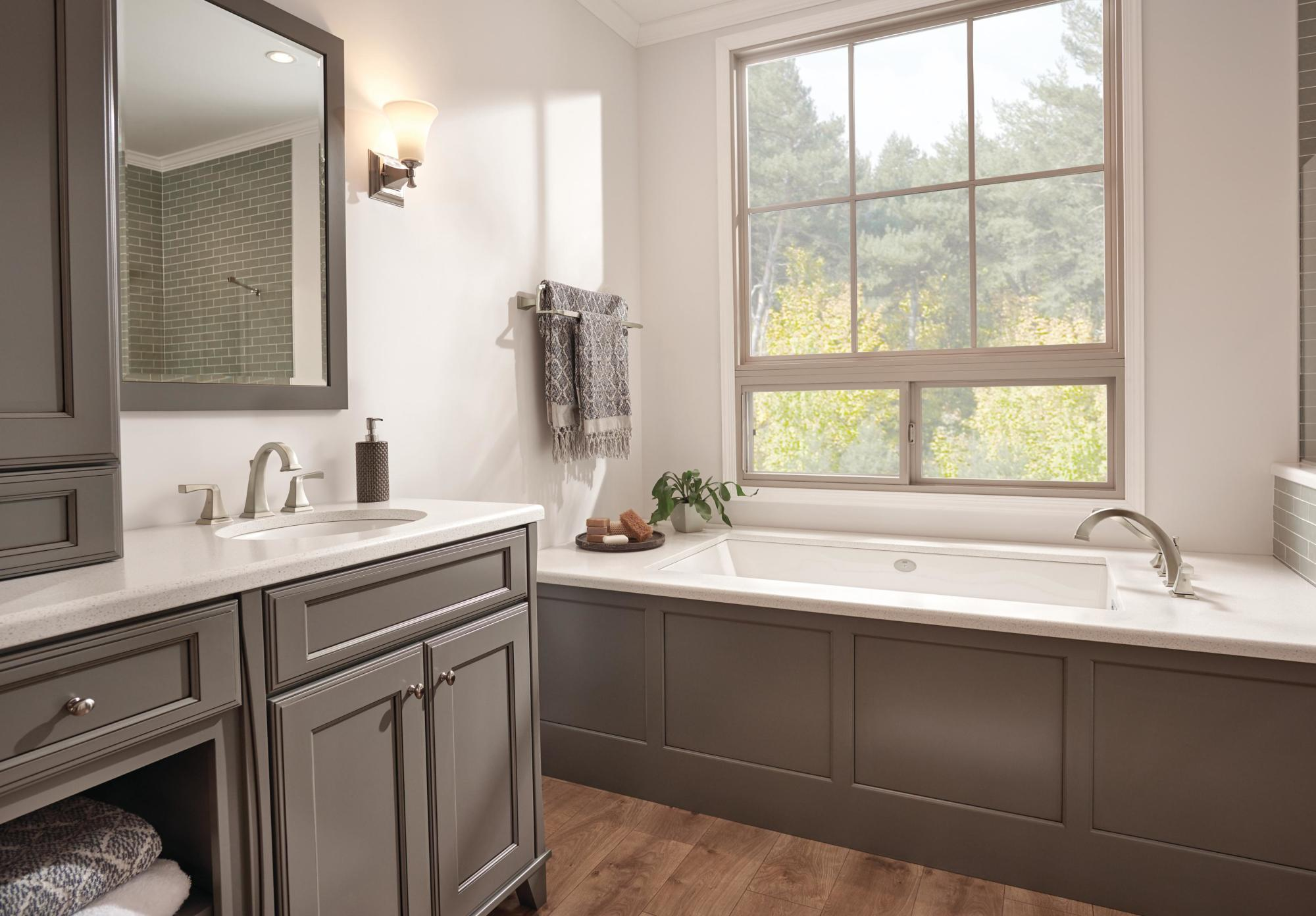 7 Faucet Finishes For Fabulous Bathrooms: Delta 3551LF Dryden Widespread Bathroom Faucet With Metal