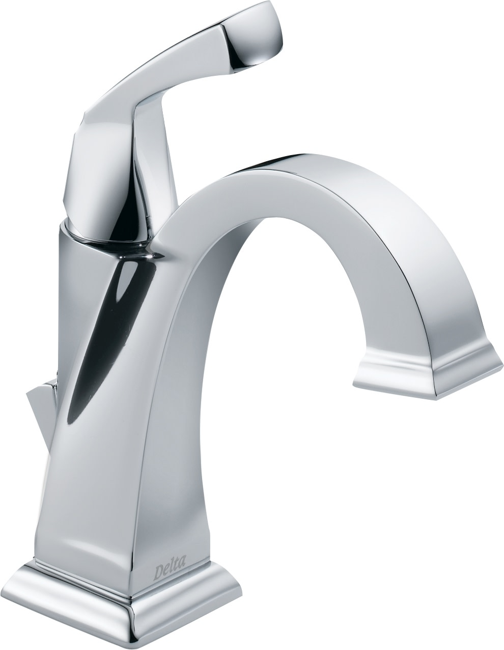 Delta 551 Dst Chrome Dryden Single Hole Bathroom Faucet With Diamond