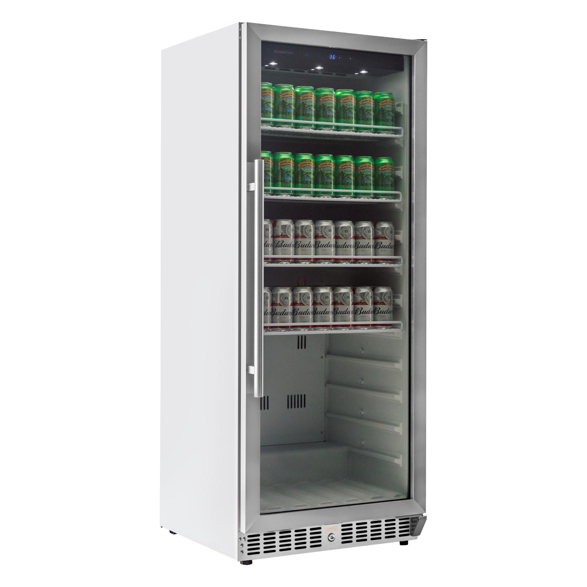 edgestar vbr440 11 2 cu  ft  built-in commercial beverage merchandiser