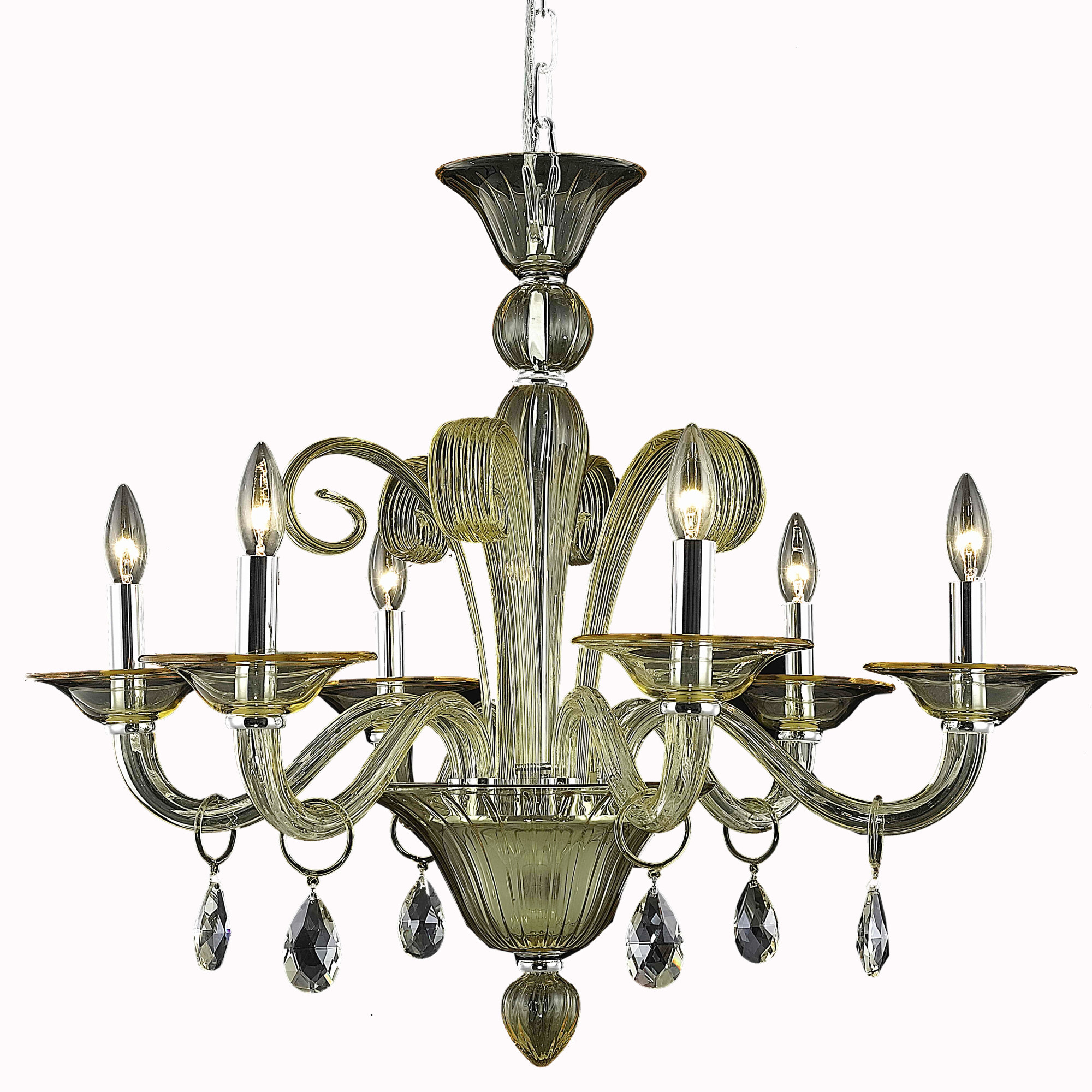 Details about elegant lighting 7866d29yw muse 29 6 light crystal chandelier yellow with cham