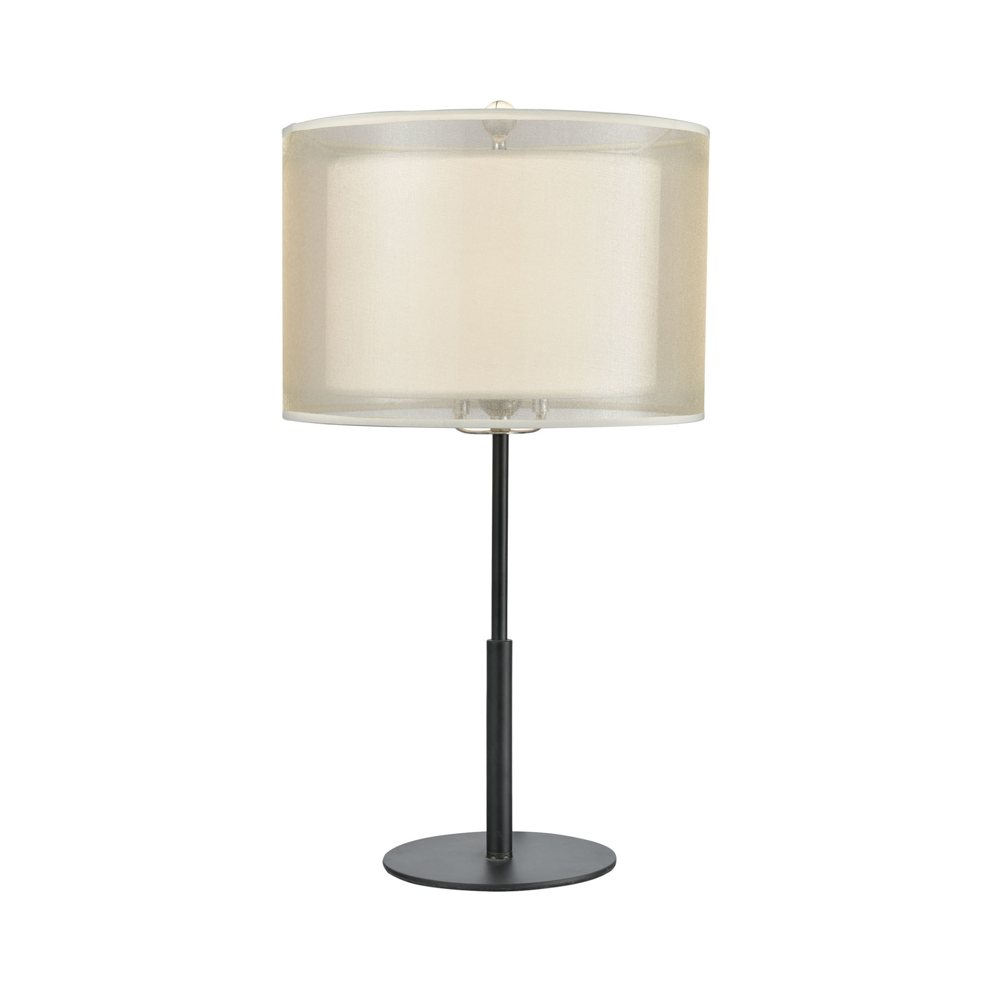 Details About Elk Lighting 46264 1 Ashland Light 21 H Buffet Table Lamp Matte Black