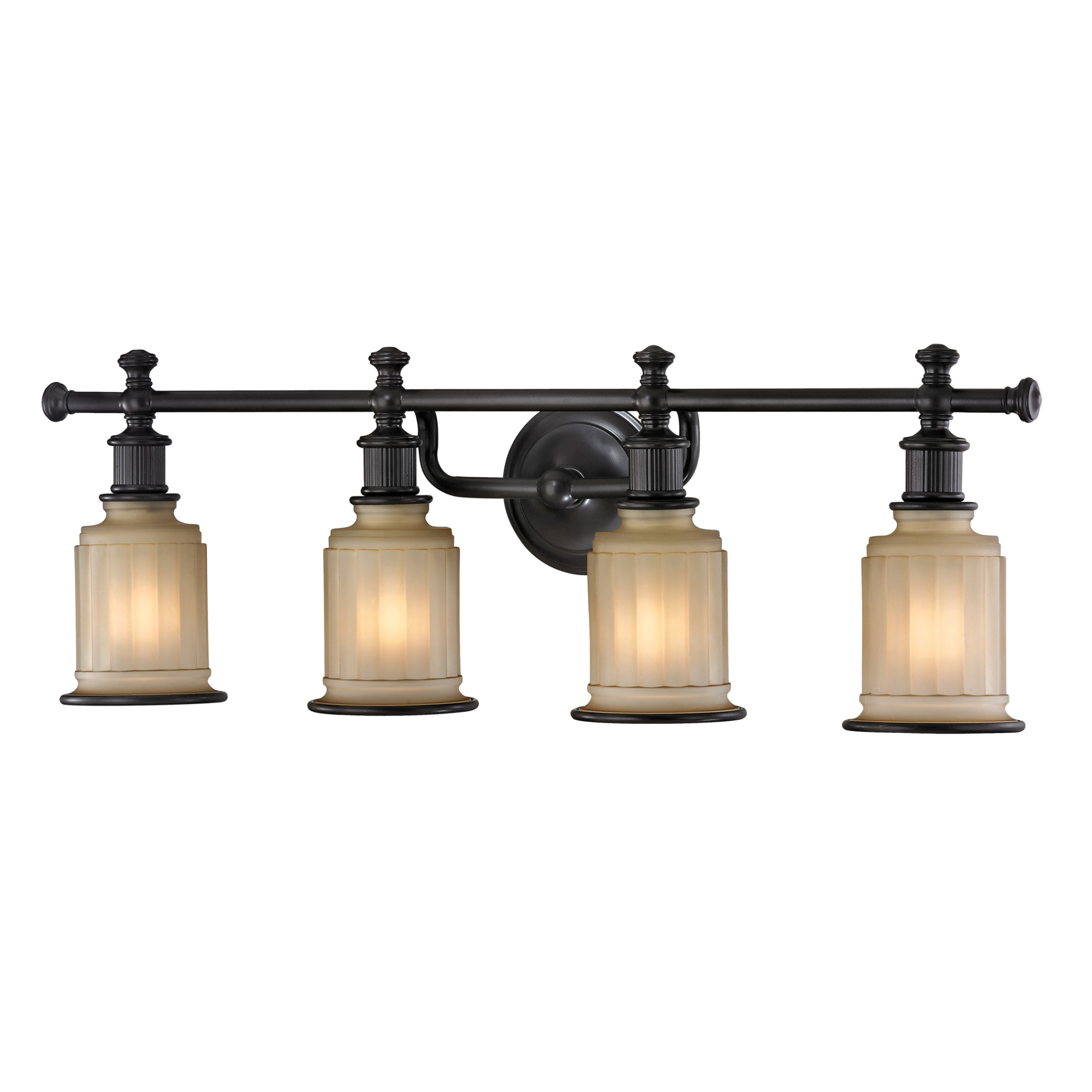 Details about elk lighting 52013 4 acadia 4 light 30 vanity fixture with frosted glass shade