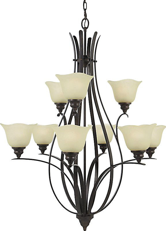 Details About Feiss F2052 6 3 9 Light Up Lighting Chandelier Bronze