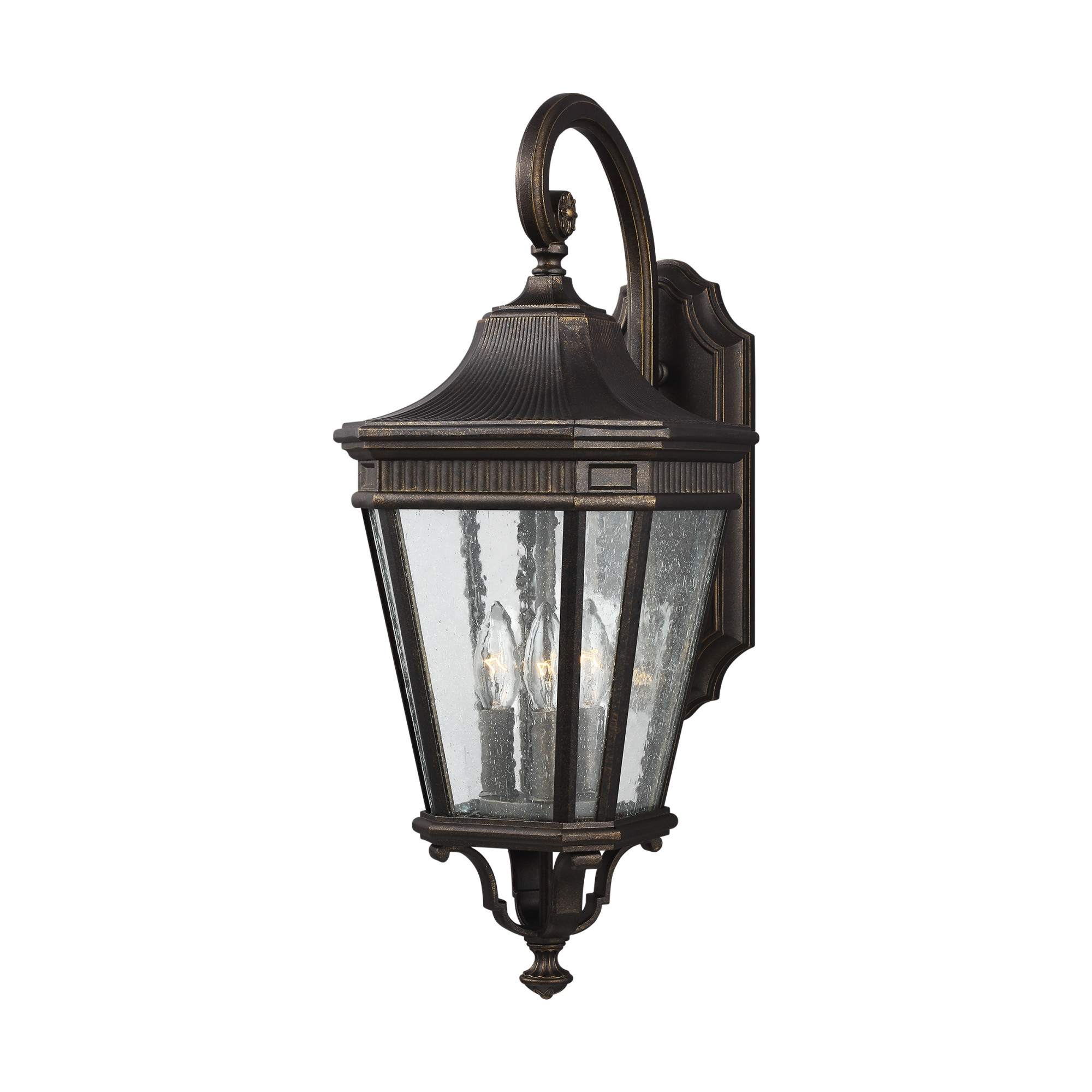Details About Feiss Ol5422 Cotswold Lane 3 Light 23 4 Tall Outdoor Wall Sconce With Seeded