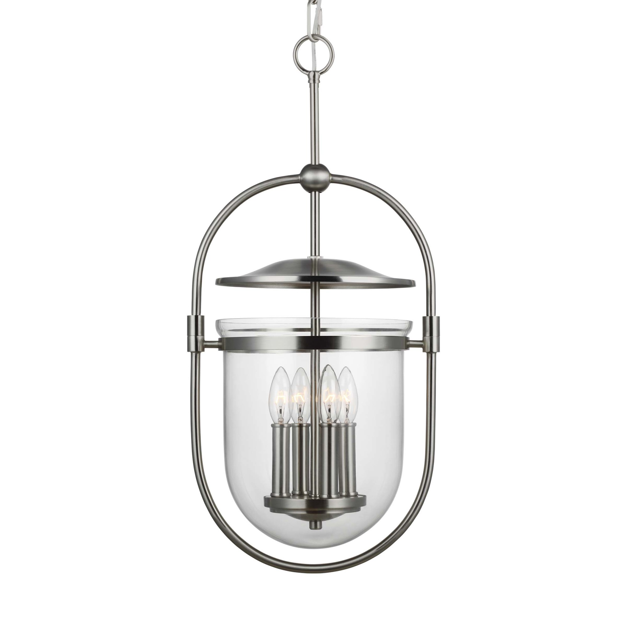 Details About Feiss P1488 Osborne 4 Light 13 W Taper Candle Pendant Nickel