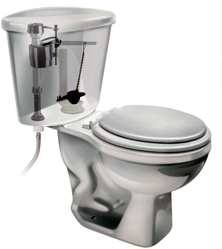 Fluidmaster 506 Universal Toilet Flapper Full Flush Tank Value With Chain 2