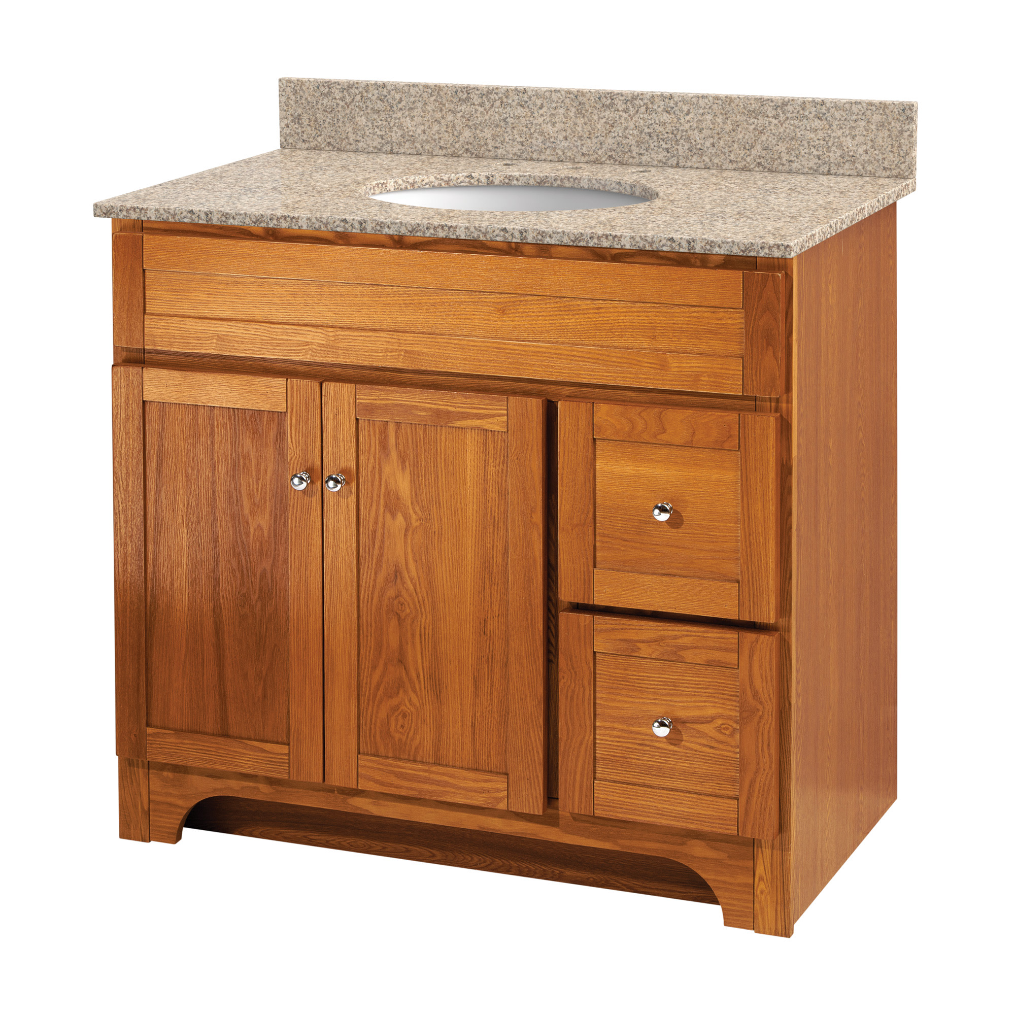 Details About Foremost Wroa3621d Worthington 36 Vanity Cabinet Only Oak