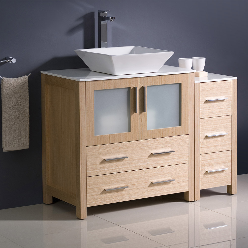 Fresca-FCB62-3012-V-Torino-42-034-Free-Standing-Vanity-Set-with-Plywood-Cabinet thumbnail 2