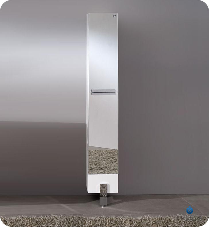 Fresca fst8110 adour 75 freestanding bathroom linen - Freestanding bathroom linen closet ...